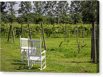 Winery Canvas Print - Two With A View by Brian Manfra