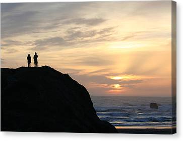 Two With A View Canvas Print by Holly Ethan