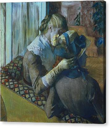 Two Women Canvas Print by Edgar Degas