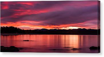Twofold Bay Sunset Canvas Print by Racheal  Christian