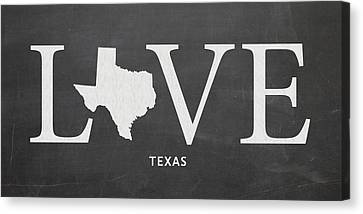 Tx Love Canvas Print