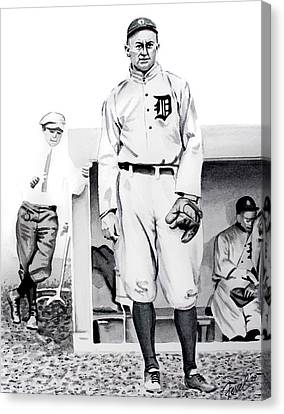Ty Cobb Canvas Print by Ferrel Cordle