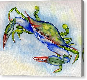 Tybee Blue Crab 2 Canvas Print by Doris Blessington