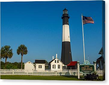 Canvas Print featuring the photograph Tybee Island Lighthouse by Michael Sussman