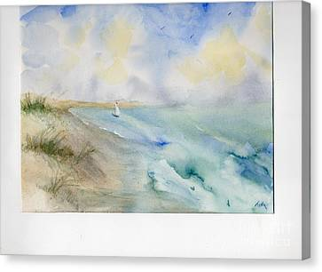 Canvas Print featuring the painting Tybee Memory by Doris Blessington