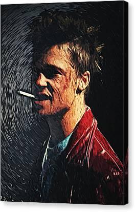 Tyler Durden Canvas Print by Taylan Apukovska