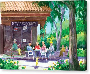 Tylers Donuts Canvas Print by Ray Cole