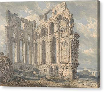 Tynemouth Priory, Northumberland Canvas Print by Thomas Girtin