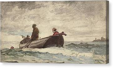 Tynemouth Priory Canvas Print by Winslow Homer