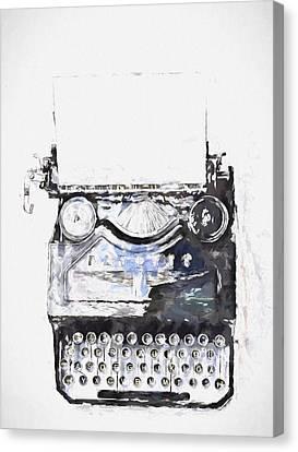 Type Canvas Print by John K Woodruff