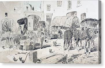 Types Of Carriages Used During The 19th Canvas Print by Vintage Design Pics