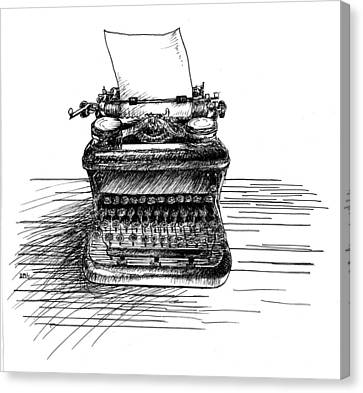Typewriter Canvas Print by Diana Ludwig