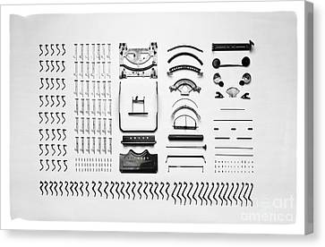 Typewriter Disassemblemed Canvas Print by Edward Fielding