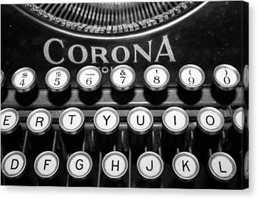 Typewriter Canvas Print by Gina  Zhidov