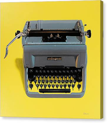 Typewriter Canvas Print - Typewriter by Henry Balzer