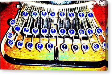 Typewriter Canvas Print by Peter  McIntosh