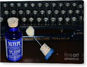 Typewriter Time To Clean The Keys Canvas Print by Paul Ward