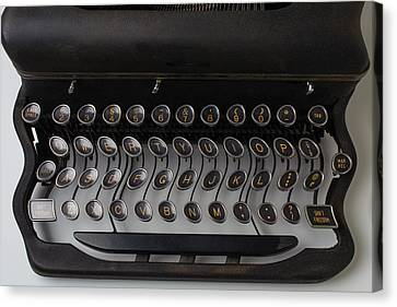 Wavy Canvas Print - Typewrter Wavy Keys by Garry Gay