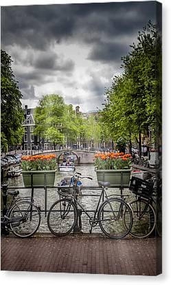 Typical Amsterdam Canvas Print by Melanie Viola