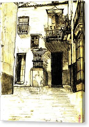 Typical Malaga Canvas Print by Linda Hubbard Red Cap Art