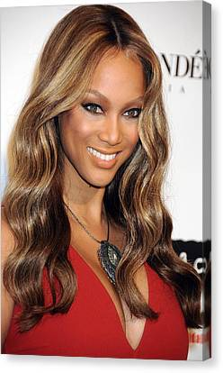 Tyra Banks At Arrivals For Keep A Child Canvas Print by Everett