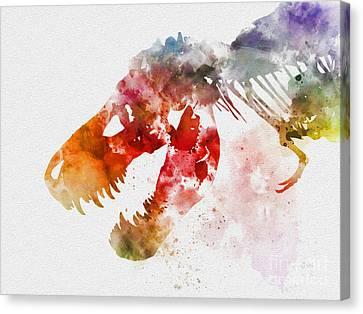 Tyrannosaurus Rex Canvas Print by Rebecca Jenkins