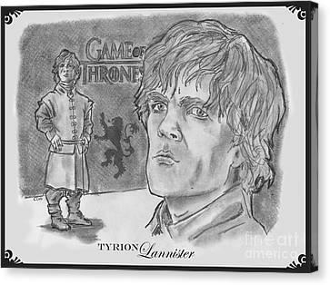 Tyrion Lannister-  Canvas Print by Chris  DelVecchio