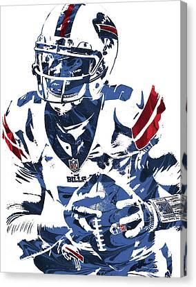 Buffalo Canvas Print - Tyrod Taylor Buffalo Bills Pixel Art by Joe Hamilton