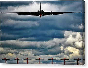 U-2 Landing At Sunset Canvas Print by Jared Denton
