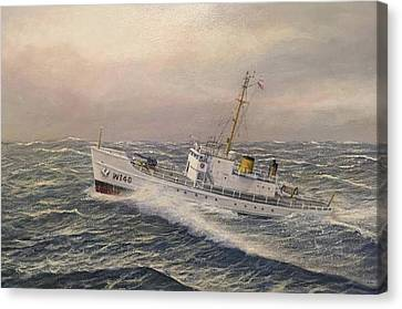 Law Enforcement Canvas Print - U.. Coast Guard Cutter General Greene 2 by William H RaVell III