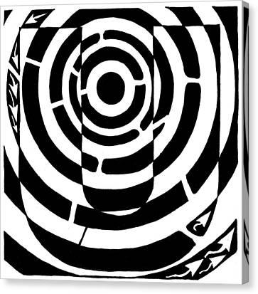 U-maze Canvas Print by Yonatan Frimer Maze Artist