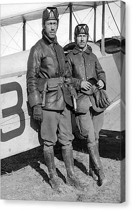 U. S. Army Aero Corps Pilots Canvas Print by Underwood Archives