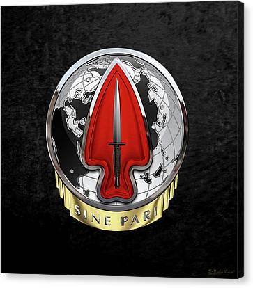 U. S.  Army Special Operations Command  -  U S A S O C    D U I Over Black Velvet Canvas Print
