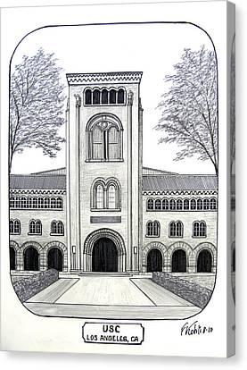 Buildings Canvas Print - U S C by Frederic Kohli