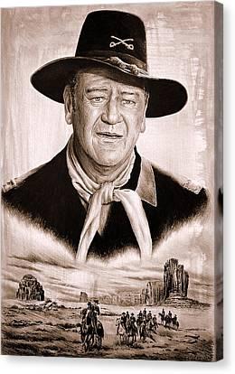 U S Calvary Sepia Canvas Print by Andrew Read