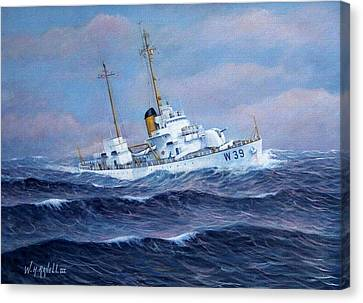 U. S. Coast Guard Cutter Owasco Canvas Print by William H RaVell III