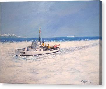 U. S. Coast Guard Icebreaker Northwind Canvas Print by William H RaVell III