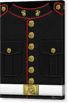 U S M C Dress Uniform Canvas Print