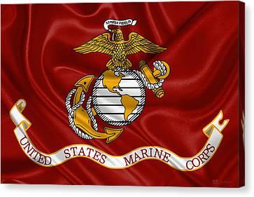 U. S.  Marines - U S M C Corps Flag Canvas Print