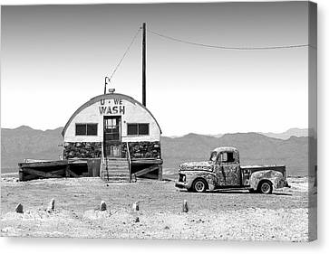Canvas Print featuring the photograph U - We Wash - Death Valley by Mike McGlothlen