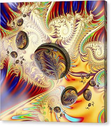 u029 Happy Spiralegged Eastervasion Canvas Print
