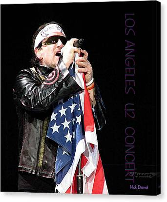 U2 Bono L.a. Concert Canvas Print by Nick Diemel