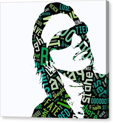 Bono Canvas Print - U2 Bono With Or Without You by Marvin Blaine