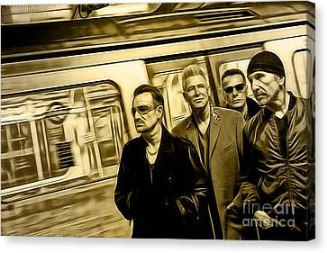Bono Canvas Print - U2 Collection by Marvin Blaine