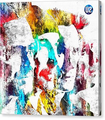 U2 Grunge Canvas Print