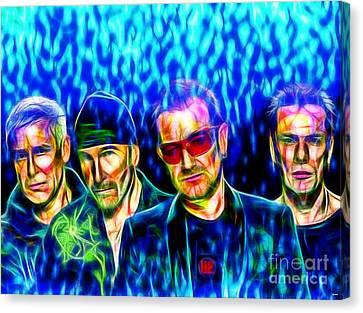 U2 In Color Canvas Print