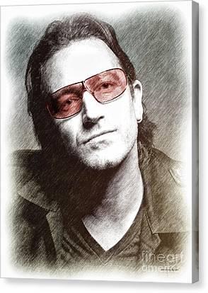 U2's Bono Canvas Print