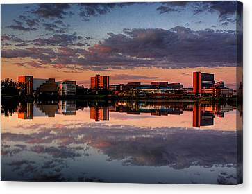 Ub Campus Across The Pond Canvas Print