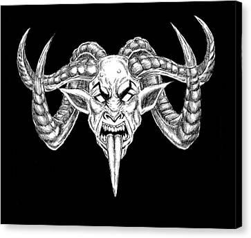 Horror Fantasy Movies Canvas Print - Uber Goat by Alaric Barca