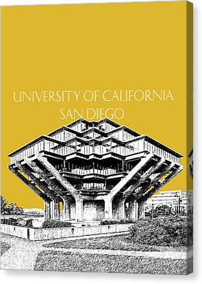 Uc San Diego Gold Canvas Print by DB Artist